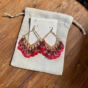 NWT Kendra Scott Raven Rose Gold Earrings - Maroon